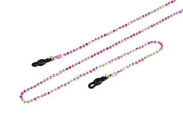 Bead Chain in Pink for Glasses by Framesfoundry