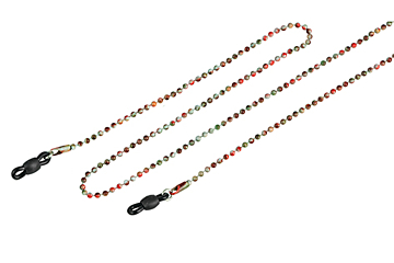 Bead Chain in Brown for Glasses by Framesfoundry