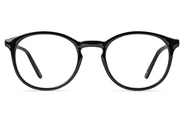 TT6300 Bold Black Round Acetate Glasses